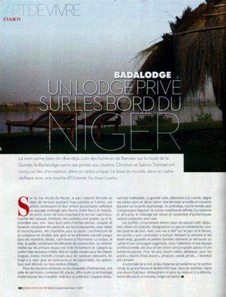 Article BadaLodge - African Woman